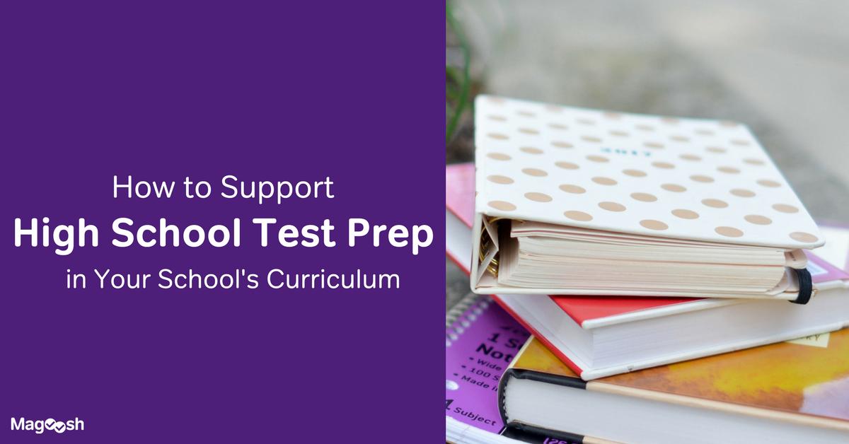 Support test prep in your school curriculum